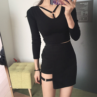 Spring And Summer Women S Charm Sexy Hollow Slim Was Thin Metal Buckle Chisel A Line