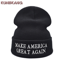 6666dedd0fb Make America Great Again Winter Beanies Knitted Hat Letters Donald Trump  Cap GOP Republican Beanie Warm