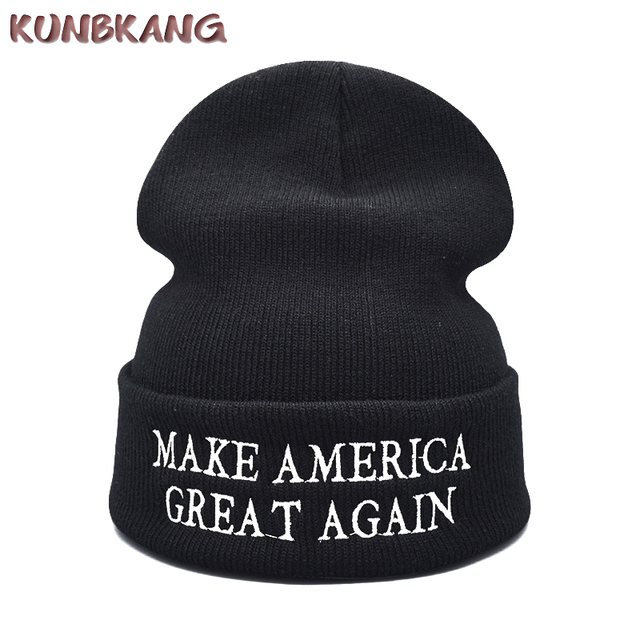 Make America Great Again Winter Beanies Knitted Hat Letters Donald Trump Cap  GOP Republican Beanie Warm Trump President USA Hat 9ffc4672613