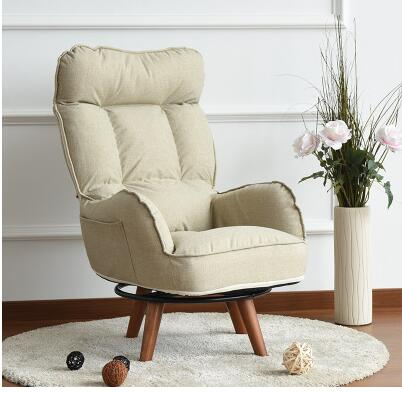Single cloth art leisure swivel chair. Office lazy sofa. Computer chair pregnant women nursing chair.02