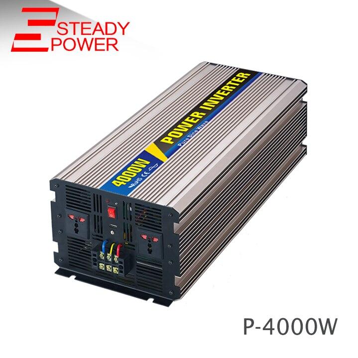 цена на Factory supplier 4000 watt 12v 220v dc-ac car power inverter 4kw off-grid pure sine wave inverter for solar power system