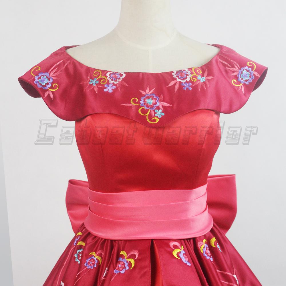 R63486 11 De Descontoelena De Avalor Vestido De Princesa Adulto Traje Cosplay Menina Mulheres Rosa Vermelha Dramatização Vestido Custom Made In