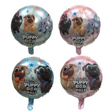 18 inch  Puppy dog pals Helium Balloons brothers Bingo and Rolly Globos Birthday Party Childrens Day Foil Ballon Decorations
