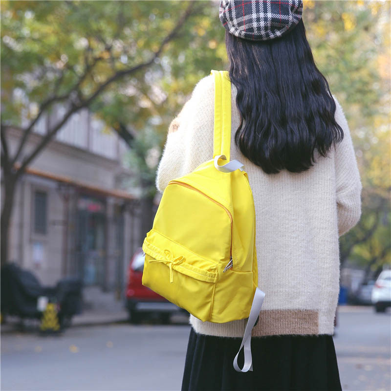 Women Solid Nylon Backpack Teenagers Girls School Bags Laptop Trave Backpacks 88 Best Sale-WT