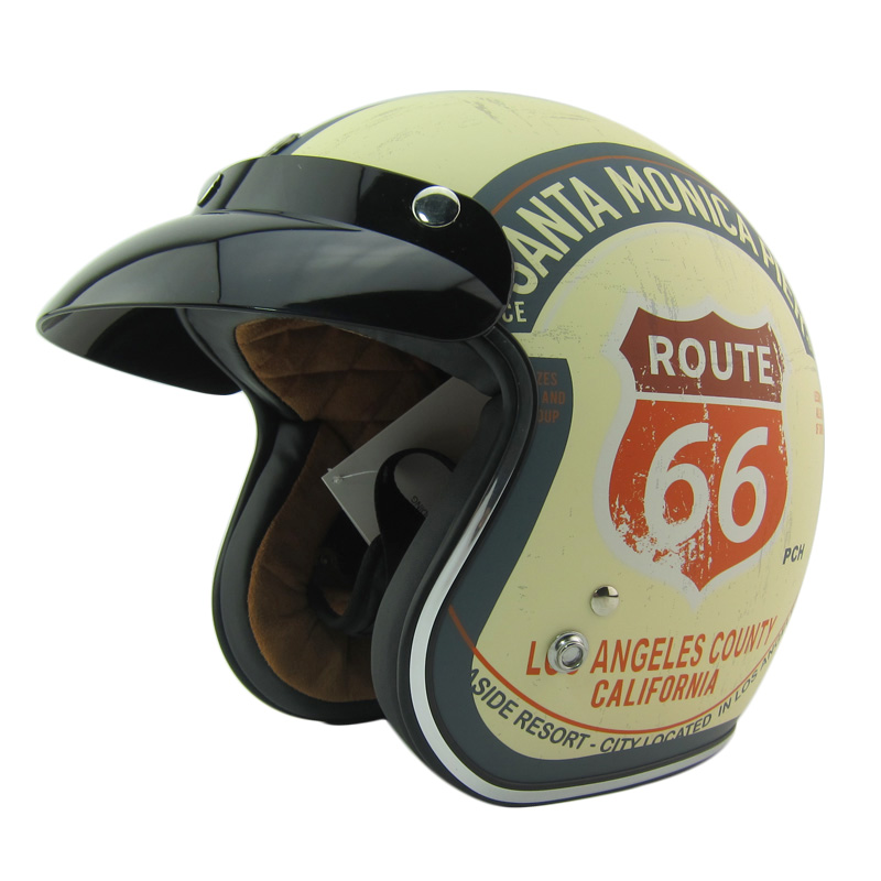 free shipping TORC HELMET moto casco capacete 3/4 open face vintage motorcycle helmet jet scooter motocross helmets DOT M ~ XXL