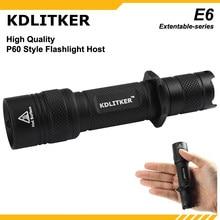 KDLITKER-linterna E6 / E6S P60, color negro