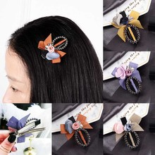 Fashion 1PC Cute Child Hair pin Women Clip For kids Girls ellipse Flowers Bang clip Accessories
