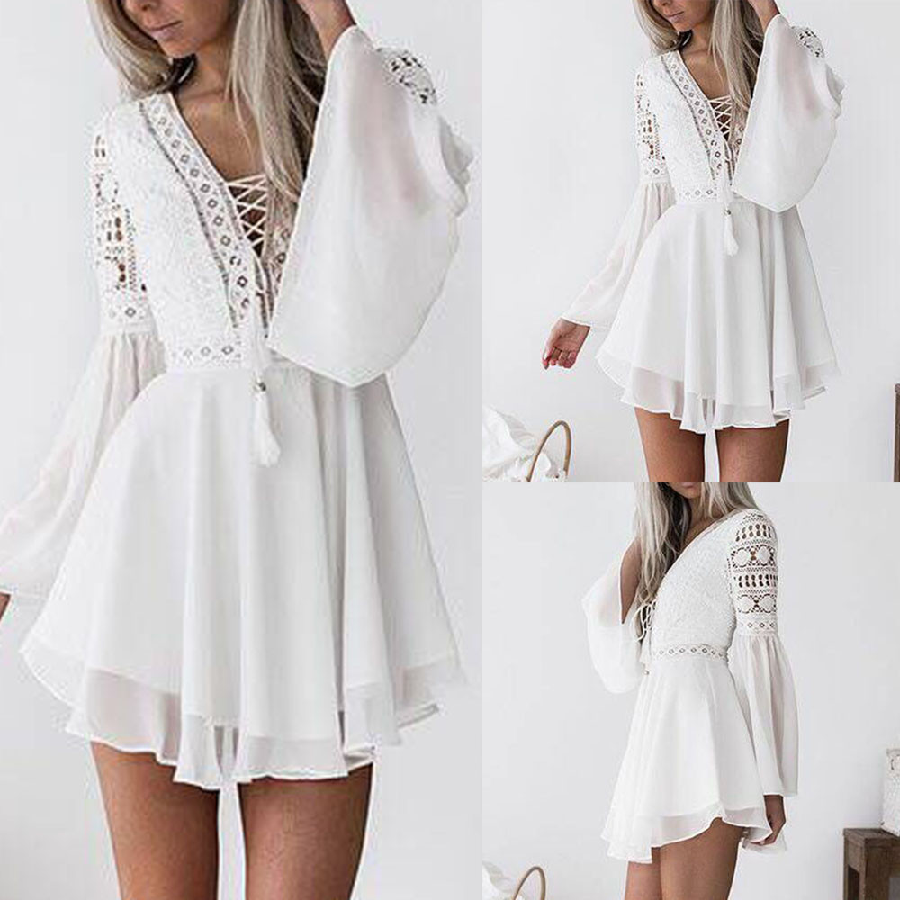 31d4bbc25e US $12.21 25% OFF|summer dress 2019 Women Lace Long Sleeve Bodycon Cocktail  Party Dress Bandage Dresses vestido de festa longo-in Dresses from Women's  ...