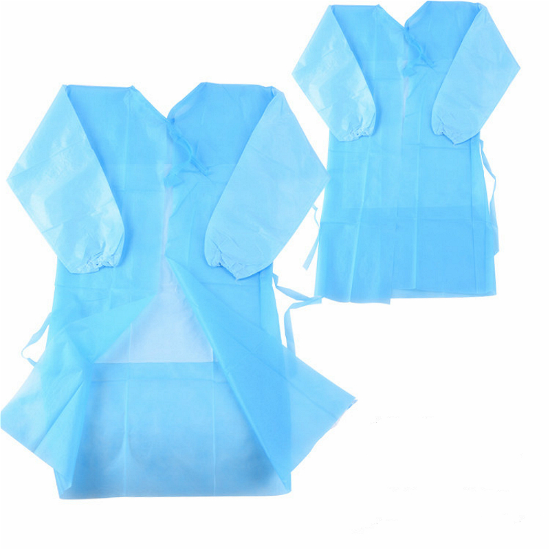 1 Pcs Disposable Surgical Gown Thin And Light Dust Clothes Woven Overalls Visit ,Non-woven Aprons, Surgical Clothing