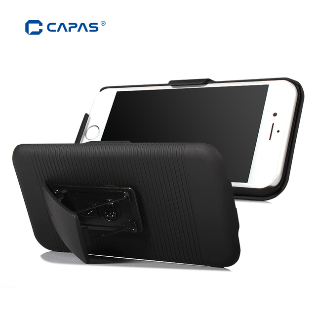 cheap for discount fa3a2 c65e2 US $6.49 35% OFF|CAPAS Belt Clip Case for iPhone 6S Case Belt Clip Cover  for iPhone 7 Plus 7Plus 6 Slide 2 in 1 Phone Swivel Holder Stand Shield-in  ...