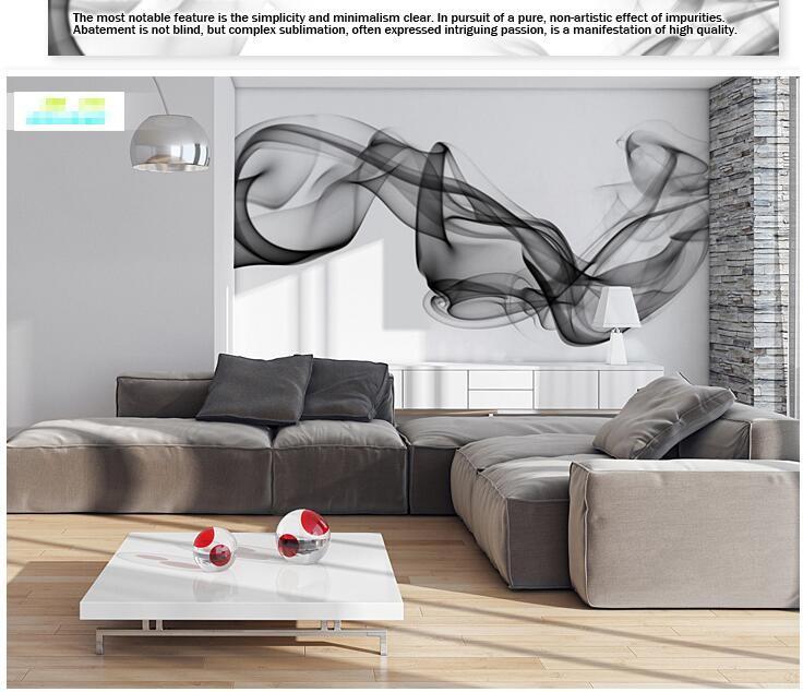 Niestandardowe 3D fototapety Dymu chmury streszczenie artystyczny fototapeta tapeta nowoczesna minimalistyczna sypialnia sofa TV obraz papier 11