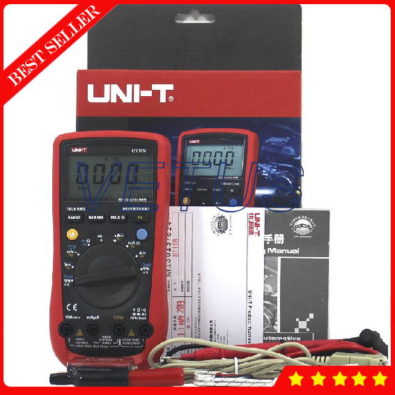 UT-109 Digital avometer with high technology auto range digital multimeter brands Frequency 10Hz - 1MHz my68 handheld auto range digital multimeter dmm w capacitance frequency