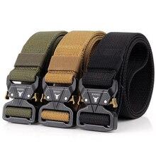 купить Adjustable Tactical Belt Heavy Duty Military Belt Nylon Waist Belts with Metal Quick Dry Waist Band Hunting Accessories P30 дешево