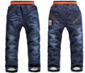 SK071 2015 new Boys / girls warm Detidetei thick winter pants big boys jeans kids  children boy jeans