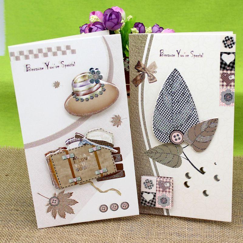 Hot Korea creative three dimensional greeting cards business card ...