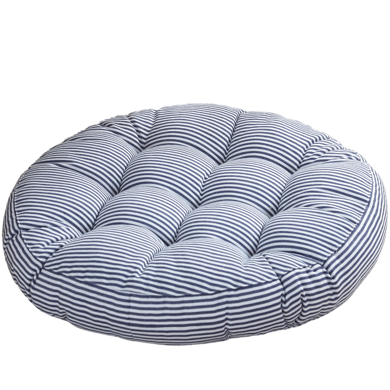 42cm 45cm Cotton Linen Striped Dining Cushion Chair Seat Pillow Corduroy Tatami Mat Round Futon Pad Gift In From Home Garden