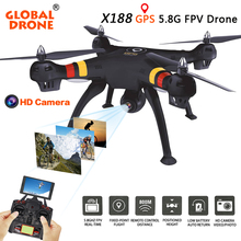 Global Drone GPS DRONE X188 Quadcopter 5.8G FPV 2MP Camera Remote Control Toy RC helicopter GPS Dron with 4K Camera Quadrocopter