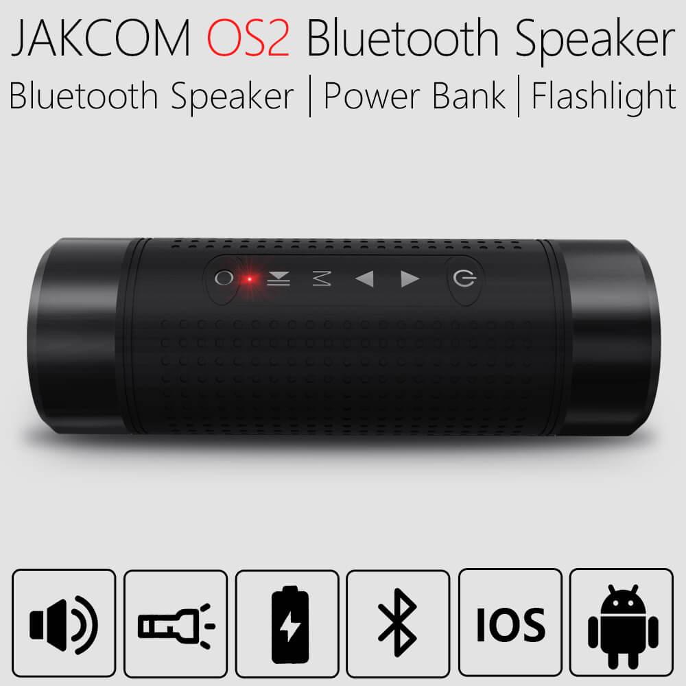 Jakcom OS2 al aire libre Bluetooth altavoz impermeable 5200 mAh Baterías portátiles Bicicletas portátil subwoofer altavoz LED luz + soporte para bicicleta