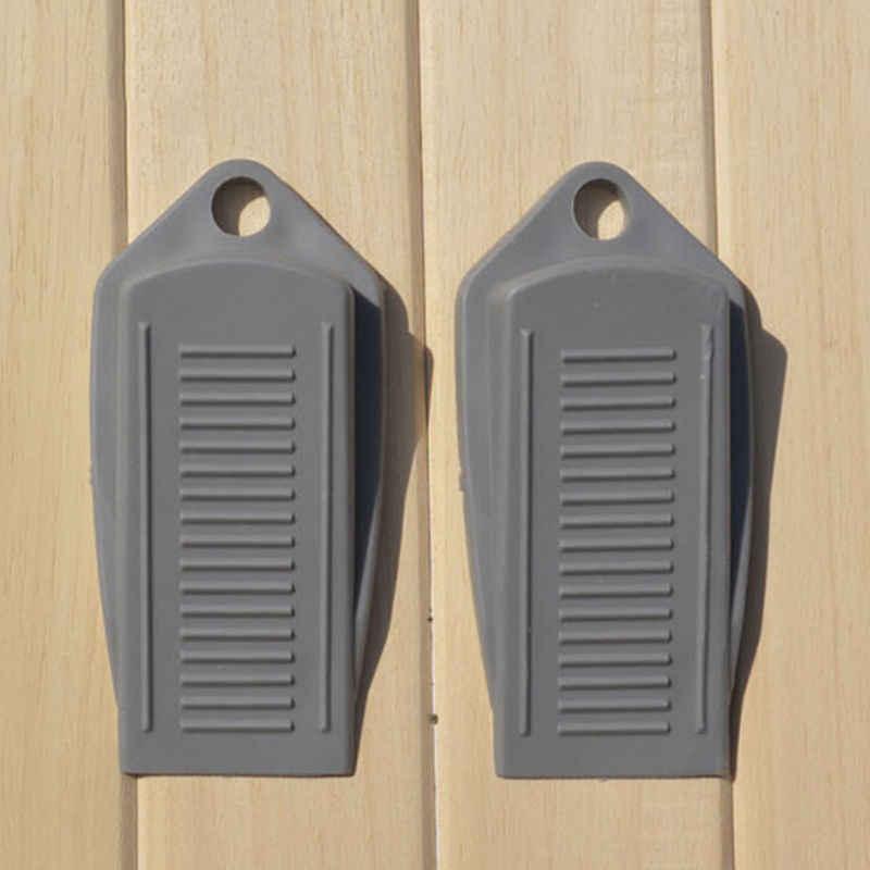 SoSupplies 3 X Black Door Wedges Wedge Stop Stoppers