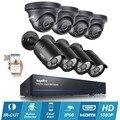 SANNCE 8CH Full HD 1080 P DVR 8 pcs Câmera De Segurança De 2MP Sistema de Vigilância CCTV P2P visão nocturna do IR Ao Ar Livre à prova d' água 1 TB HDD opcional