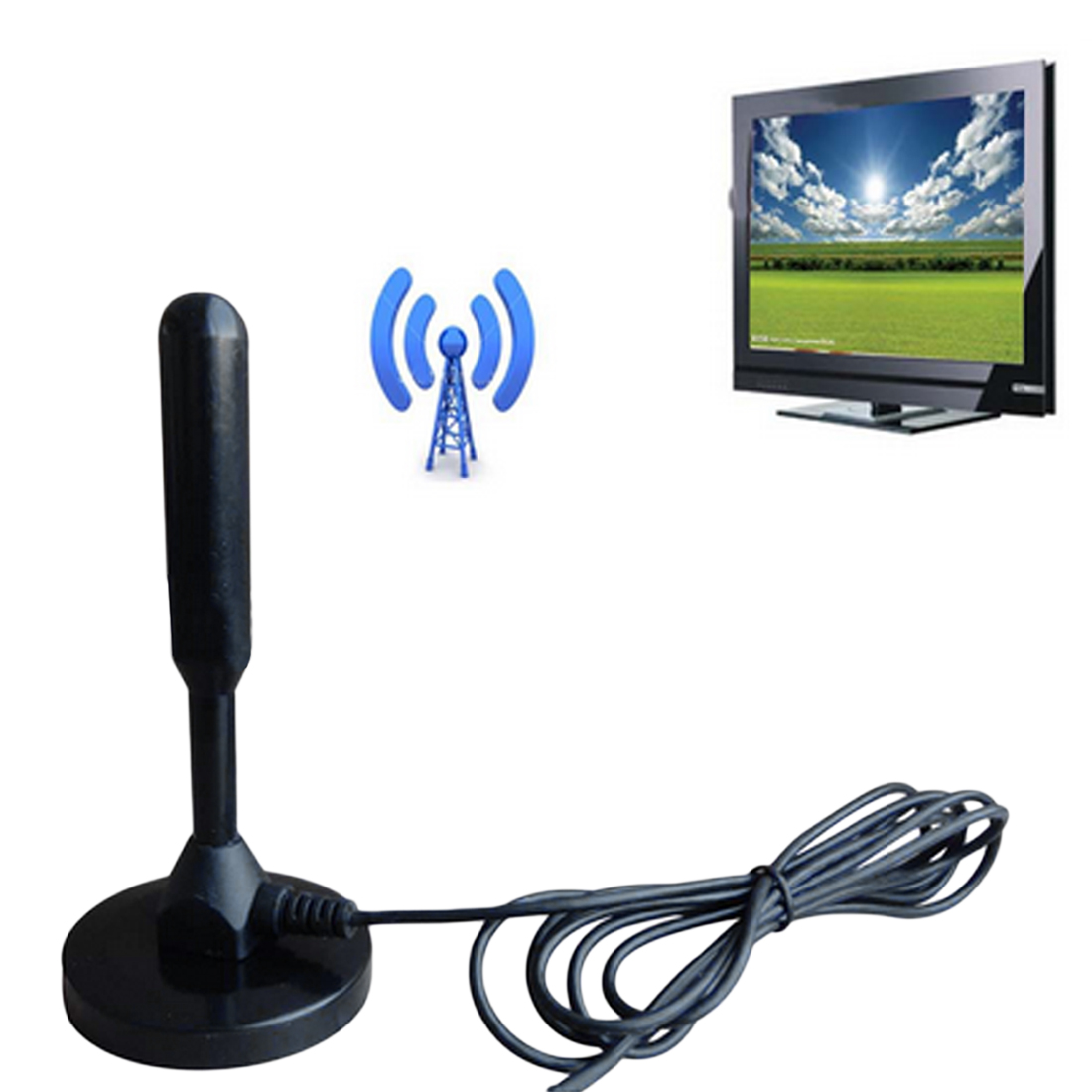 Marsnaska Neue Ankunft Indoor Gain 28dBi Digital DVB-T/FM Dvb-t Antenne Antenne PC für TV HDTV