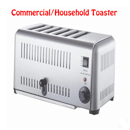 Household Toaster/Breakfast Toaster/Commercial Toaster/Stainless Steel Toaster/Toast Heating Oven ETS-6 cukyi toaster household automatic multi function breakfast machine egg boiler stainless steel electric baking pan heating oven