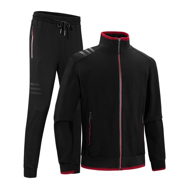 US Men Gym Sport TrackSuit Hoodie Jacket Sweater Suit Set Trousers Pants Jogging