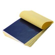100 ชิ้น/ล็อต TATTOO โอนกระดาษ Tracing Copy Body Art กระดาษคาร์บอนโอน A4
