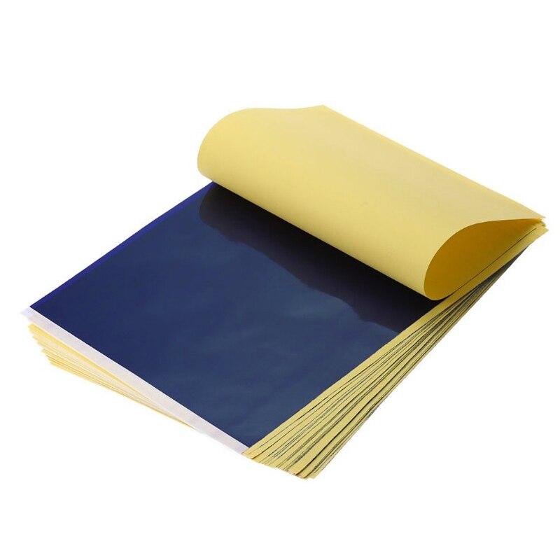 100 pcs/lot De Transfert De Tatouage D'alimentation de Papier de Traçage Copier Body Art Stencil Carbone Transfert Papier A4