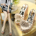 2017 Summer Fashion Rhinestone Wedges Sandals Women Sexy Trifle Slides Casual Beading Open Peep Toe Female Sandals Free Shipping