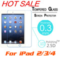 """For Apple iPad 2/3/4 9.7"""" 0.3mm 9H Explosion-Proof Toughened Tempered Glass Tablet PC Film HD Clear Screen Protect Cover Guard"""