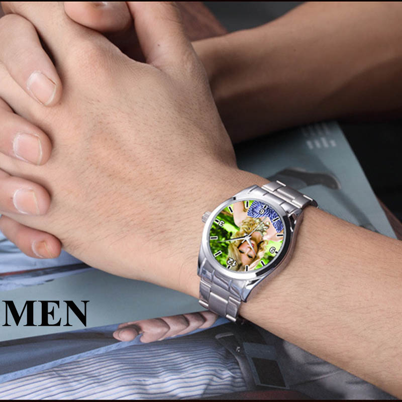 Image 2 - A3313 Cusrom logo Watch photo print Watches watch face Printing Wristwatch Customized Unique DIY Gift For lovers-in Lover's Watches from Watches