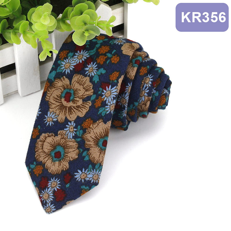 Men Groom Neckwear Tie Necktie Cotton Printing Fashion For Wedding Business Suit Party -MX8