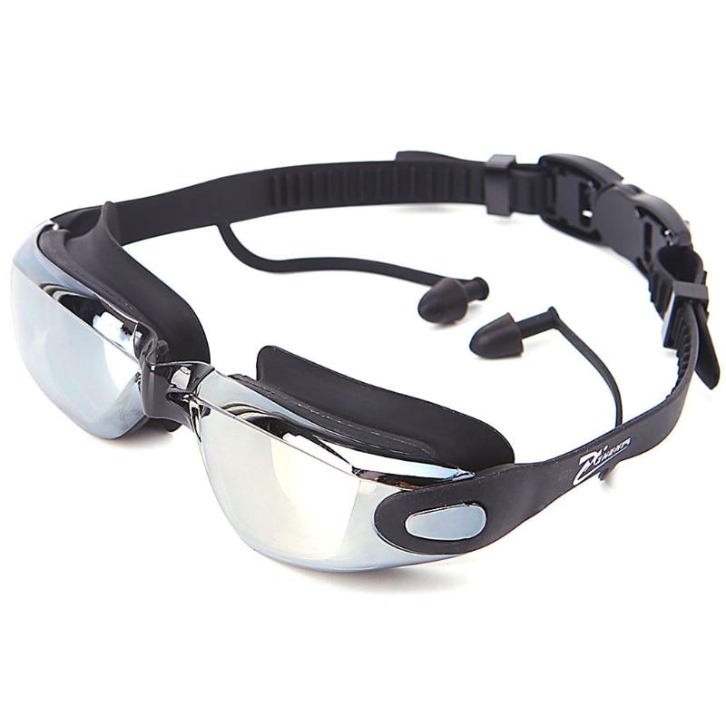 Pro Unisex Anti Fog UV Waterproof Swimming Goggles w Earplug Glasses Adjustable in Swimming Eyewear from Sports Entertainment