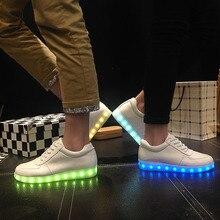 Usb unisex Glowing Sneaker men Led shoe flashing trainers boy Footwear led Slipper women Chaussure tenis led simulation teenager