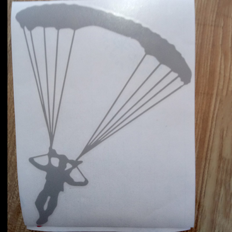 Personality Skydiving Parachute Sticker Decal Art Car Aircraft Car Stying Jdm C Guo 441 in Car Stickers from Automobiles Motorcycles