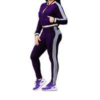 Casual Bodysuit Club Outfit Sporting Tracksuits Fashion Sexy Women Sportswear Set Long Sleeve Two Pieces Suits Pants Female