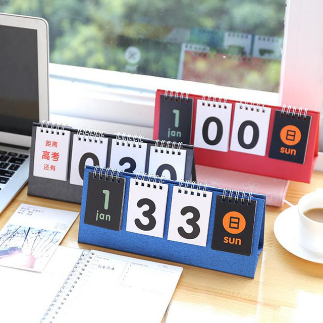 1 Pcs 365 DAY CALENDAR Table Calendar Count Down Anniversary Planner