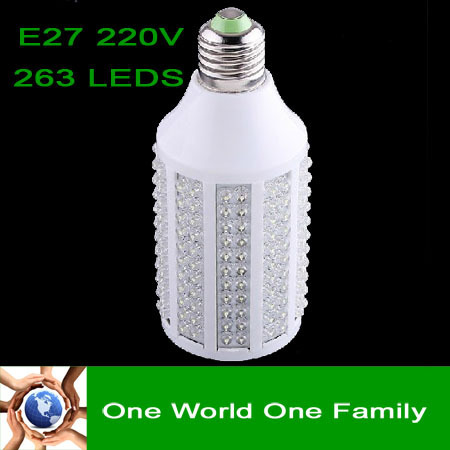 263 leds E27 15W 220V LED Corn Light Bulb Lamp Lighting 1050LM White & Warm Light Free Shippping
