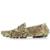 Serpentina de Impresión de Los Hombres Planos Ocasionales de Cuero Zapatos Mocasines Mocasines Se Deslizan En Estilo Serpiente de la Manera Zapatos de Conducción Masculinos 2 # D30