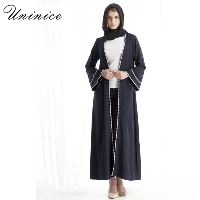 004b8d853 Fashion Muslim Maxi Dress Abaya Cardigan Gowns Hijab Thobe Islamic ...