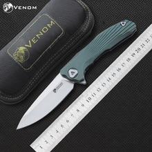 VENOM Kevin John mới conc M390/S35VN Titan Flipper folding knife dao gốm bóng mang cắm trại hunting pocket knife EDC công cụ
