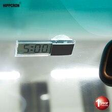 Hipppcron Автомобильный цифровой термометр/часы автоматический Оконный термометр Цельсия по Фаренгейту автомобильные цифровые часы аксессуары для автомобиля Стайлинг