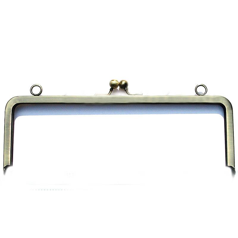 8pcs 8x3 ANTIQUE BRASS Metal purse frames with loops Handbag hinge
