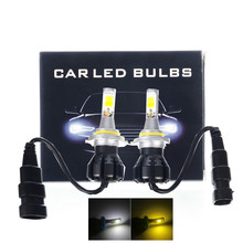 2Pcs lot Automobile Fog Lamp 9005 HB3 9006 HB4 H10 Aual color Fog Lamp COB 24W