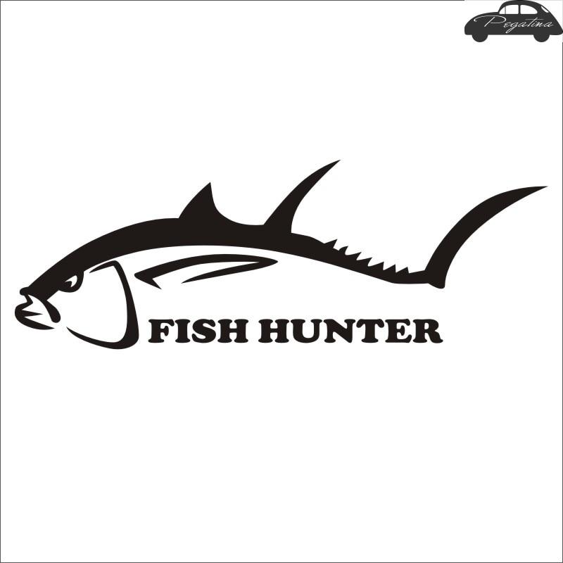 Fishing Hunter Fish Sticker Fish Decal Posters Wall Decals Pegatina Decor MuralFisher Sticker