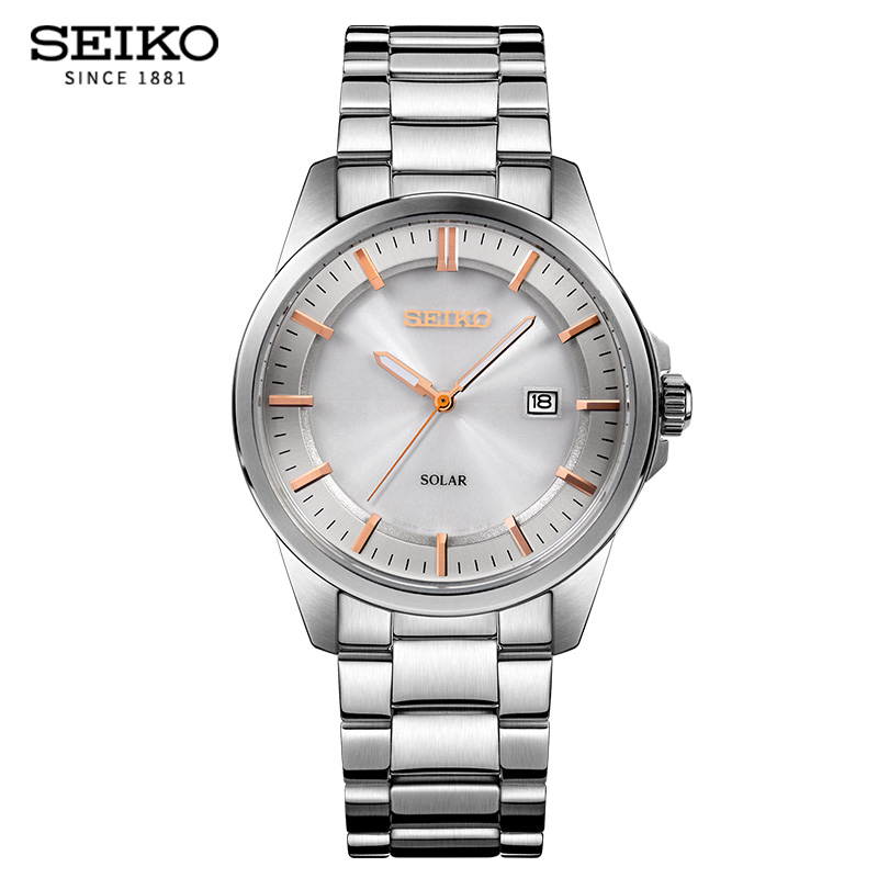 Seiko5 мужские часы 100 м водостойкие Дата часы мужские спортивные часы мужские солнечные кварцевые повседневные наручные часы Relogio Masculino