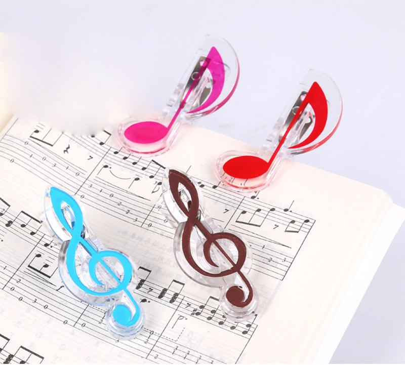 Paper Holders Novelty Hollow Metal Music Piano Book Clip Bookmark Page Paper Holder Memo Clips With Tassel School Office Stationery