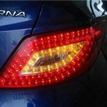 Задняя часть автомобиля светильник s для хвост светильник Verna SOLARIS 2012~ светодиодный Verna хвост светильник акцент задний фонарь DRL+ тормоз+ Парк+ движущаяся Поворотная лампа