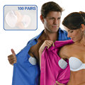 200pcs 100pairs Disposable Underarm Absorbing Sweat Pads Absorbent Dress Shield Armpit Guards Non Visible Sweat Free Protection